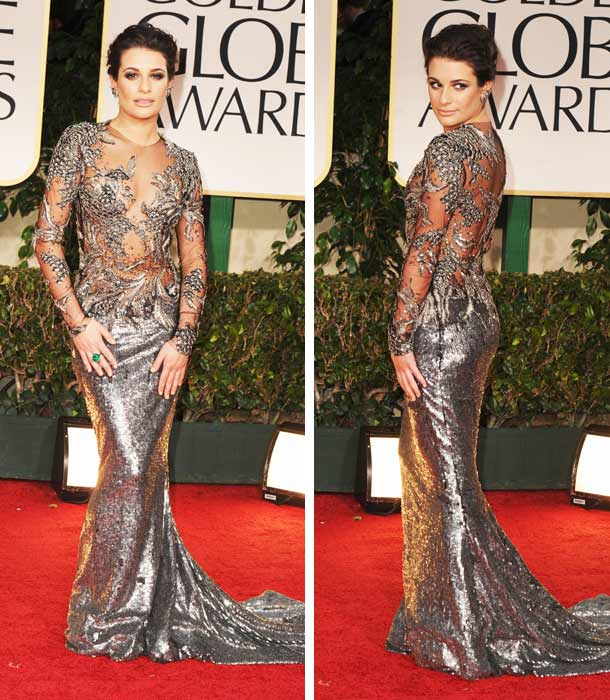 lea-michele-golden-globes-Marchesa