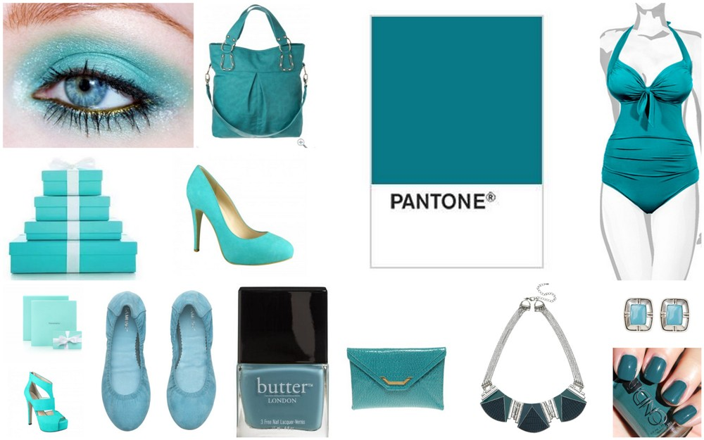 teal collage