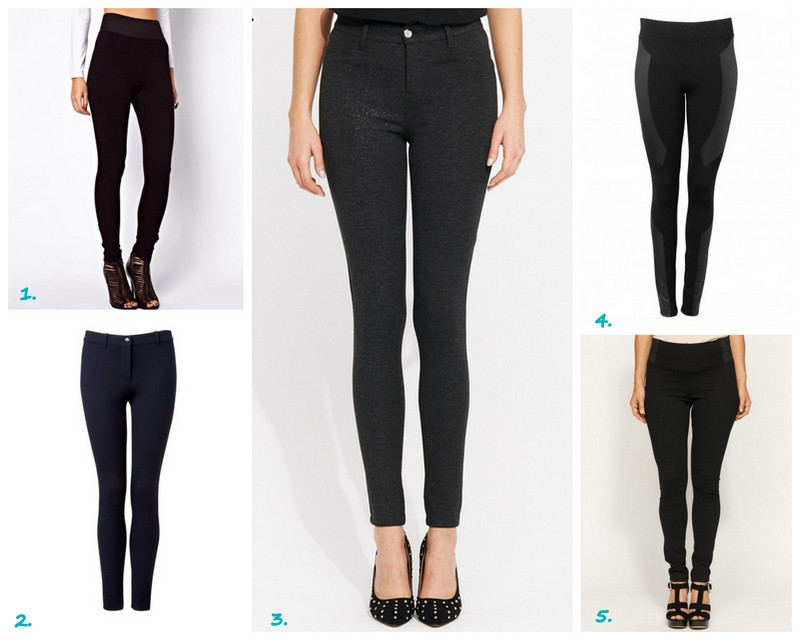 1) asos ponte pants $50.20 (buy here) 2.