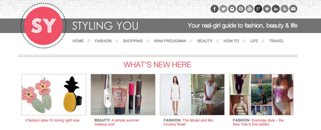 Nikki's blog, Styling You is one worth following