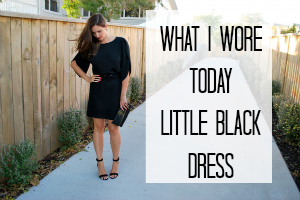 What I Wore Today: Little Black Dress